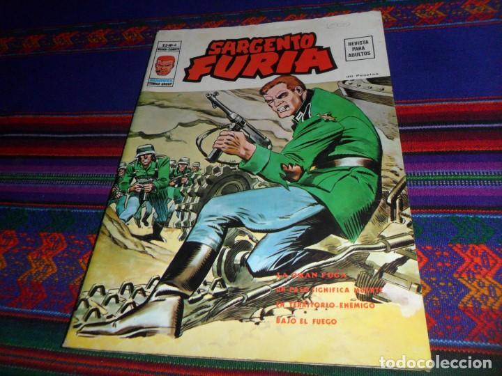 VÉRTICE VOL. 2 SARGENTO FURIA Nº 4. 1974. 30 PTS. LA GRAN FUGA. BUEN ESTADO Y RARO. (Tebeos y Comics - Vértice - Furia)