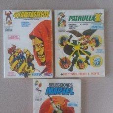 Cómics: LOTE 3 TACOS VERTICE VOLUMEN VOL. V. 1 4FANTASICOS Nº 9 SELECIONES MARVEL 2 PATRULLA X 13. Lote 128571331