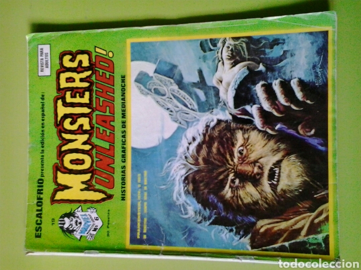 ESCALOFRIO N 19 MONSTERS UNLEASHED EDICIONES VERTICE PORTADA FATIGADA (Tebeos y Comics - Vértice - Otros)