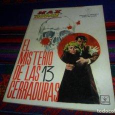 Cómics: BUEN ESTADO, VÉRTICE GRAPA MAX AUDAZ Nº 11. 10 PTS. 1965. EL MISTERIO DE LAS 13 CERRADURAS.. Lote 128984527