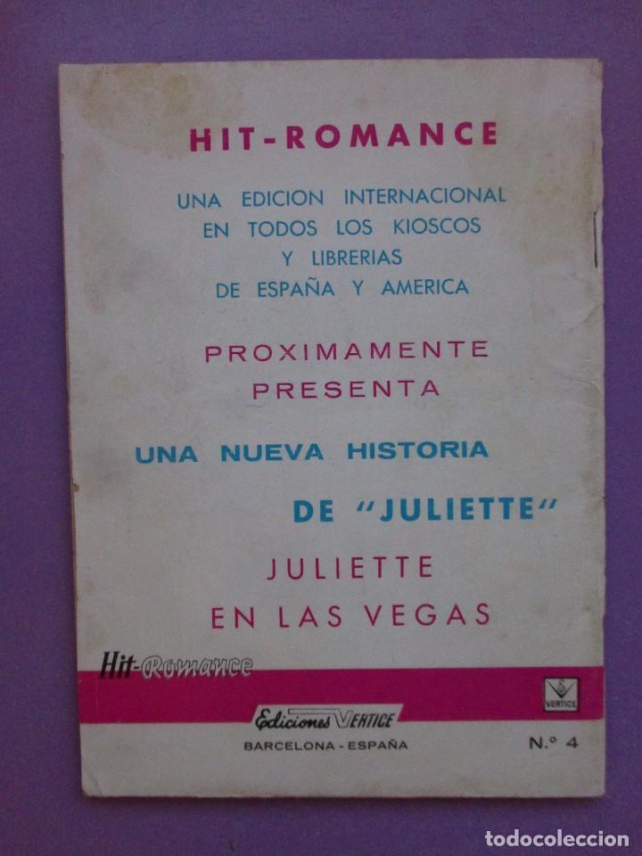 Cómics: HIT ROMANCE Nº 4 VERTICE GRAPA ¡¡¡¡ BUEN ESTADO Y MUY DIFICIL!!!!! - Foto 2 - 129024515