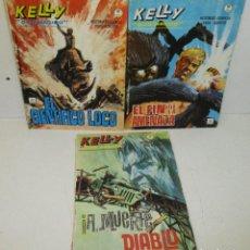 Cómics: LOTE 3 COMICS KELLY OJO MÁGICO Nº 10-14-15, VERTICE, GRAPA. Lote 129167875