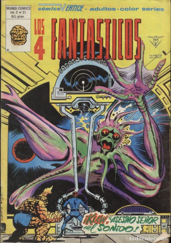 COMIC LOS 4 FANTASTICOS, VOL. 3, Nº 31 - MUNDI COMICS VERTICE (Tebeos y Comics - Vértice - 4 Fantásticos)