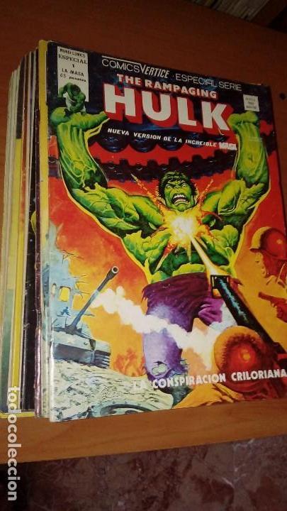 LA MASA THE RAMPAGING HULK COMPLETA Nº 1 AL 15 (Tebeos y Comics - Vértice - La Masa)