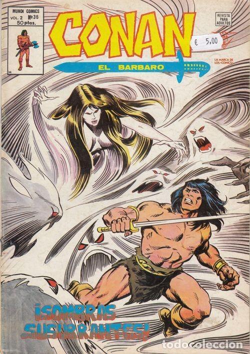 CONAN EL BARBARO VOL 2 Nº 36 - VERTICE (Tebeos y Comics - Vértice - Conan)
