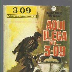 Cómics: 3-09 NÚMERO 1: AQUI LLEGA EL 3-09, 1966, VERTICE GRAPA, MUY BUEN ESTADO. Lote 131064932