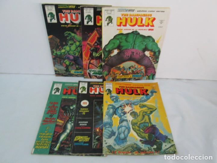 THE RAMPAGING HULK. MUNDO COMICS VOL1. Nº 11-12-13-14-15 Y ESPECIAL 2. COMICS VERTICE. VER FOTOS (Tebeos y Comics - Vértice - La Masa)