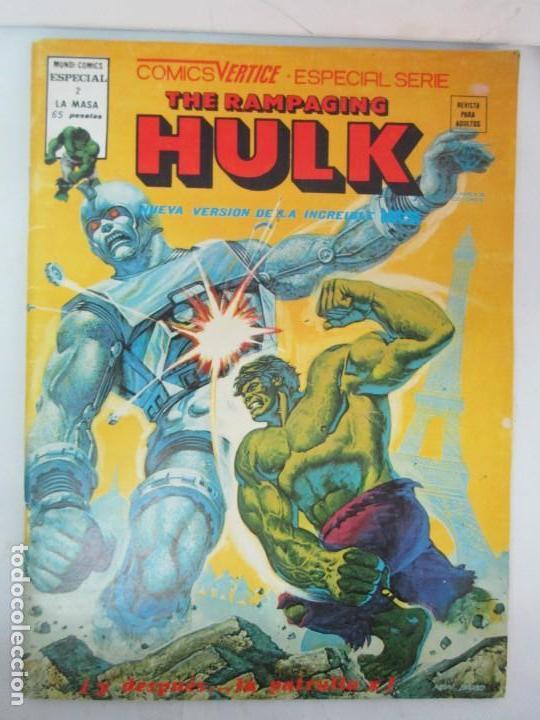 Cómics: THE RAMPAGING HULK. MUNDO COMICS VOL1. Nº 11-12-13-14-15 Y ESPECIAL 2. COMICS VERTICE. VER FOTOS - Foto 6 - 131593954