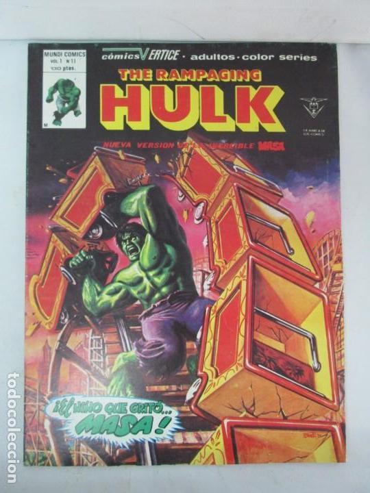 Cómics: THE RAMPAGING HULK. MUNDO COMICS VOL1. Nº 11-12-13-14-15 Y ESPECIAL 2. COMICS VERTICE. VER FOTOS - Foto 13 - 131593954