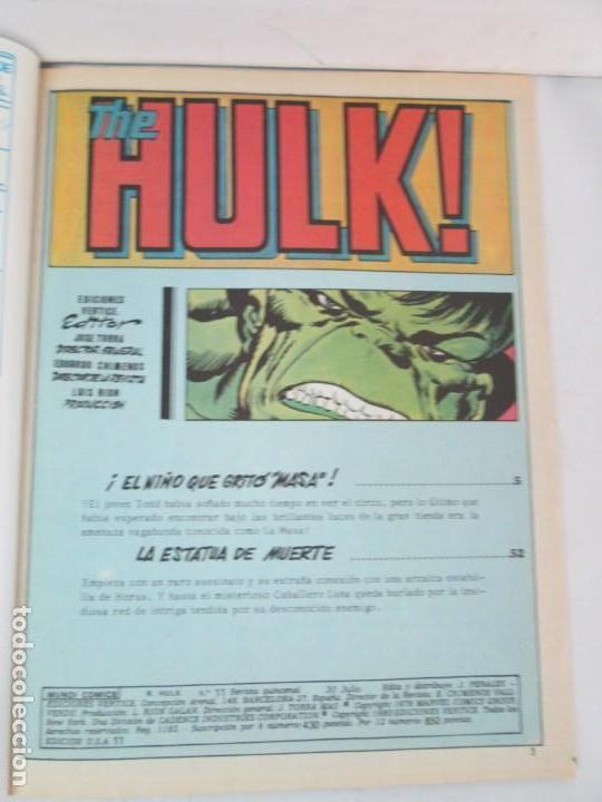 Cómics: THE RAMPAGING HULK. MUNDO COMICS VOL1. Nº 11-12-13-14-15 Y ESPECIAL 2. COMICS VERTICE. VER FOTOS - Foto 14 - 131593954