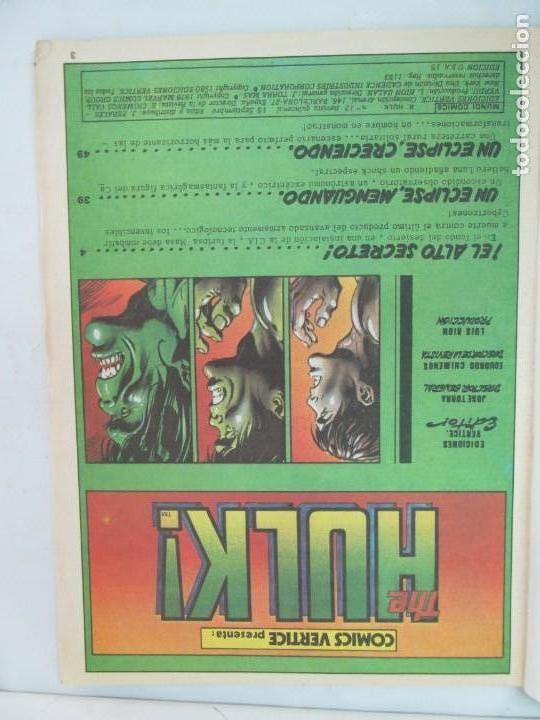 Cómics: THE RAMPAGING HULK. MUNDO COMICS VOL1. Nº 11-12-13-14-15 Y ESPECIAL 2. COMICS VERTICE. VER FOTOS - Foto 23 - 131593954