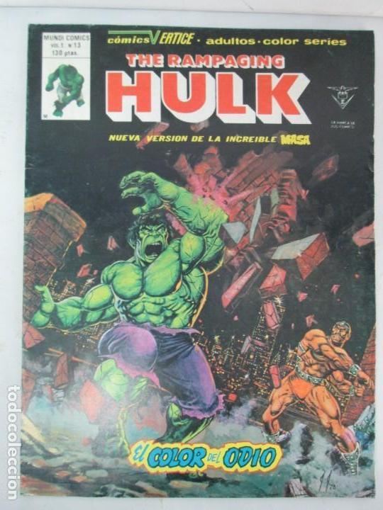 Cómics: THE RAMPAGING HULK. MUNDO COMICS VOL1. Nº 11-12-13-14-15 Y ESPECIAL 2. COMICS VERTICE. VER FOTOS - Foto 31 - 131593954
