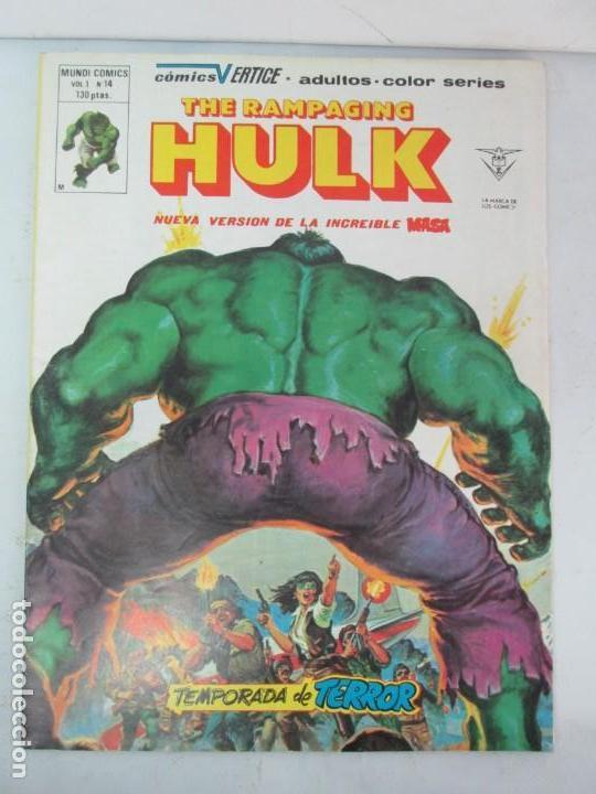Cómics: THE RAMPAGING HULK. MUNDO COMICS VOL1. Nº 11-12-13-14-15 Y ESPECIAL 2. COMICS VERTICE. VER FOTOS - Foto 39 - 131593954