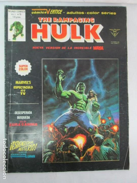 Cómics: THE RAMPAGING HULK. MUNDO COMICS VOL1. Nº 11-12-13-14-15 Y ESPECIAL 2. COMICS VERTICE. VER FOTOS - Foto 47 - 131593954