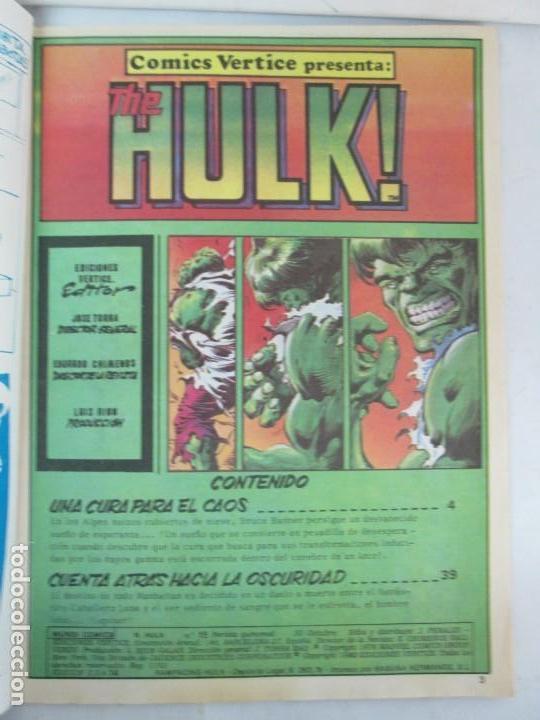 Cómics: THE RAMPAGING HULK. MUNDO COMICS VOL1. Nº 11-12-13-14-15 Y ESPECIAL 2. COMICS VERTICE. VER FOTOS - Foto 48 - 131593954