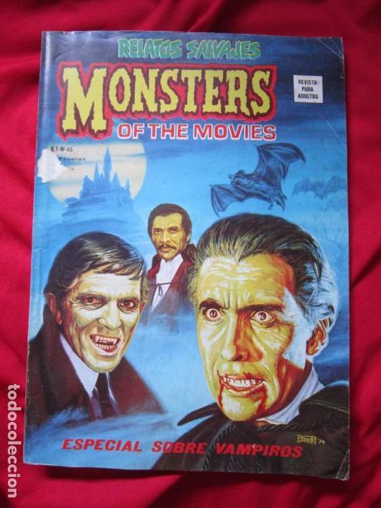 RELATOS SALVAJES MONSTERS OF THE MOVIES Nº 46 VOL 1 MUNDICOMICS VERTICE MARVEL 1977 (Tebeos y Comics - Vértice - Relatos Salvajes)