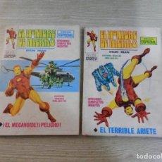 Cómics: X 2 VERTICE ,MARVEL, EDICION ESPECIAL, 25 PTS, ORIGINALES, EL HOMBRE DE HIERRO. Lote 132190714