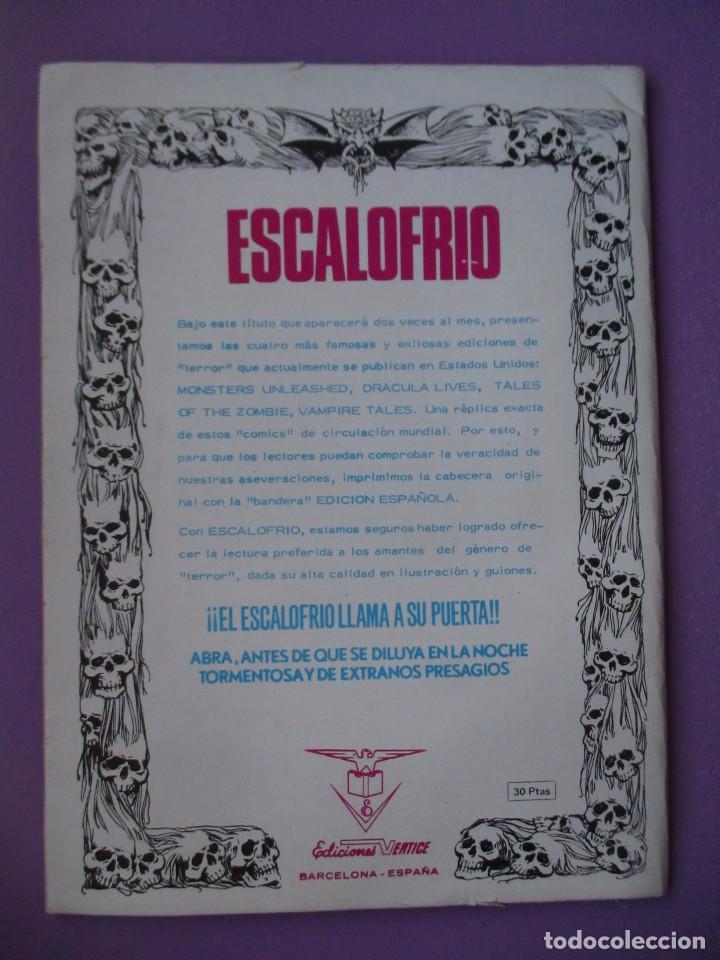 Cómics: ESCALOFRIO Nº 1, VAMPIRE TALES Nº 1 VERTICE VOLUMEN 1 ¡¡¡MUY BUEN ESTADO!!!!! - Foto 2 - 132517654