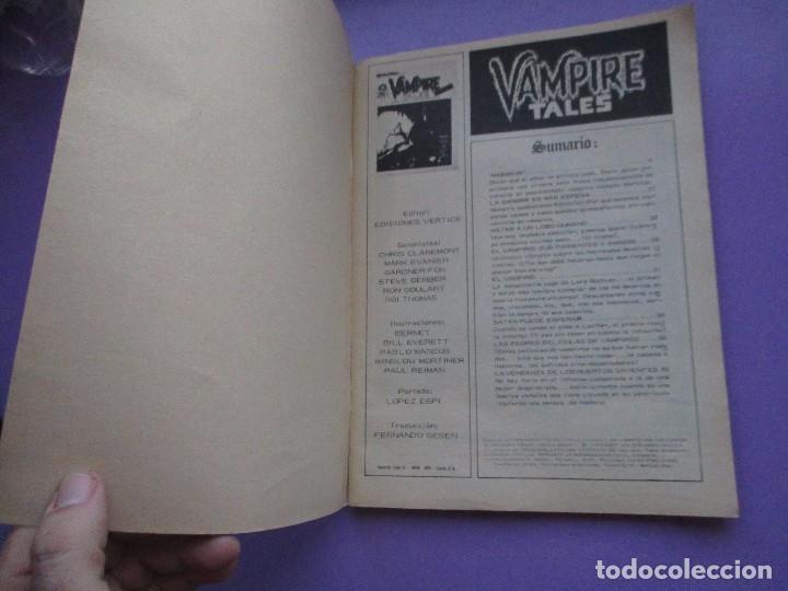 Cómics: ESCALOFRIO Nº 1, VAMPIRE TALES Nº 1 VERTICE VOLUMEN 1 ¡¡¡MUY BUEN ESTADO!!!!! - Foto 4 - 132517654