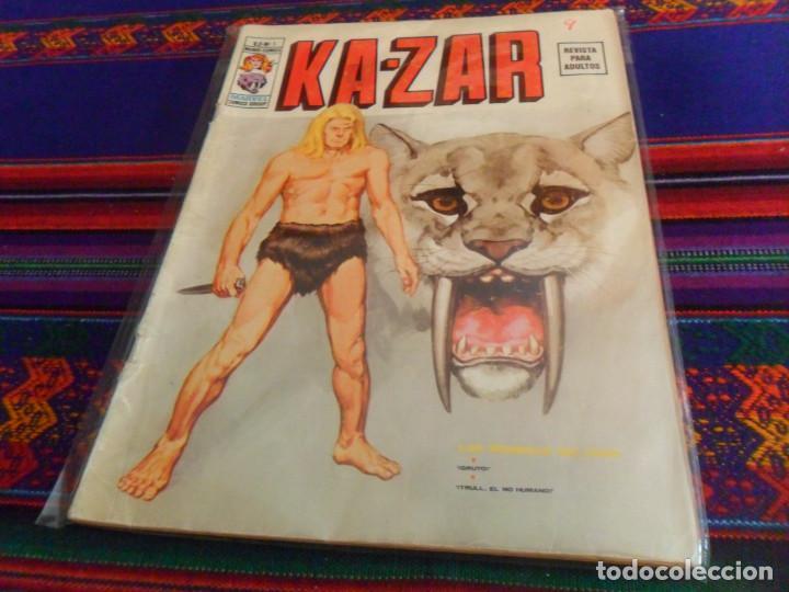 VÉRTICE VOL. 2 KAZAR KA ZAR KA-ZAR Nº 1. 1974. 30 PTS. LAS SOMBRAS DEL CAOS. DIFÍCIL. (Tebeos y Comics - Vértice - V.2)