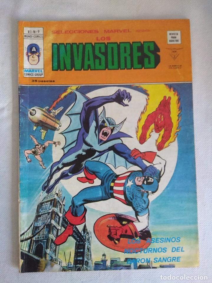 VERTICE/SELECCIONES MARVEL N9/LOS INVASORES. (Tebeos y Comics - Vértice - Otros)