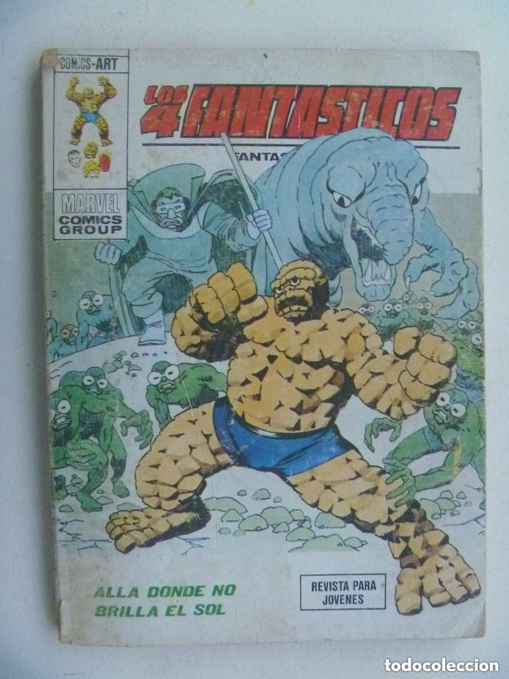 LOS 4 FANTASTICOS : ALLA DONDE NO BRILLA EL SOL . VERTICE , 1974. (Tebeos y Comics - Vértice - 4 Fantásticos)