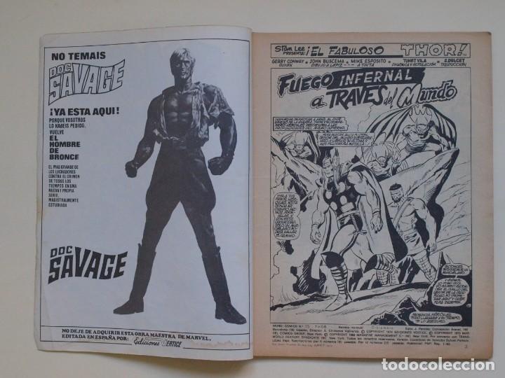 Cómics: THOR - VOLUMEN 2 - VOL. 2 - V.2 - N° 15 - FUEGO INFERNAL A TRAVES DEL MUNDO - VÉRTICE 1975 - Foto 3 - 134373254