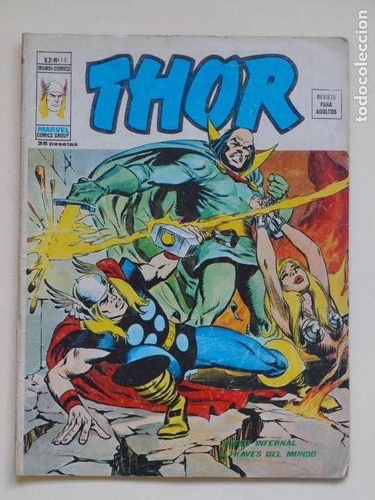THOR - VOLUMEN 2 - VOL. 2 - V.2 - N° 15 - FUEGO INFERNAL A TRAVES DEL MUNDO - VÉRTICE 1975 (Tebeos y Comics - Vértice - Thor)