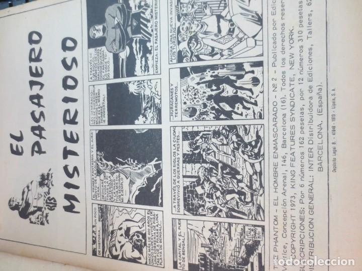 Cómics: EL HOMBRE ENMASCARADO EL PASAJERO MISTERIOSO Nº 2 VERSION ORIGINAL EDIT VÉRTICE AÑO 1973 - Foto 2 - 134839506