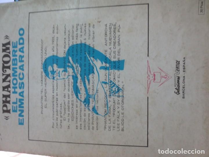 Cómics: EL HOMBRE ENMASCARADO EL PASAJERO MISTERIOSO Nº 2 VERSION ORIGINAL EDIT VÉRTICE AÑO 1973 - Foto 5 - 134839506