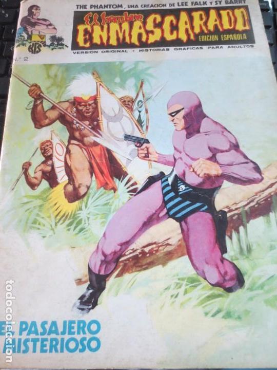 EL HOMBRE ENMASCARADO EL PASAJERO MISTERIOSO Nº 2 VERSION ORIGINAL EDIT VÉRTICE AÑO 1973 (Tebeos y Comics - Vértice - Hombre Enmascarado)