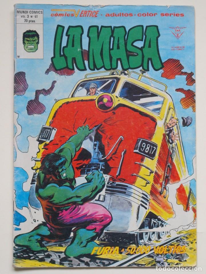 LA MASA - VOLUMEN 3 - N° 41 - FURIA A 50.000 VOLTIOS - VERTICE - 1980 (Tebeos y Comics - Vértice - La Masa)