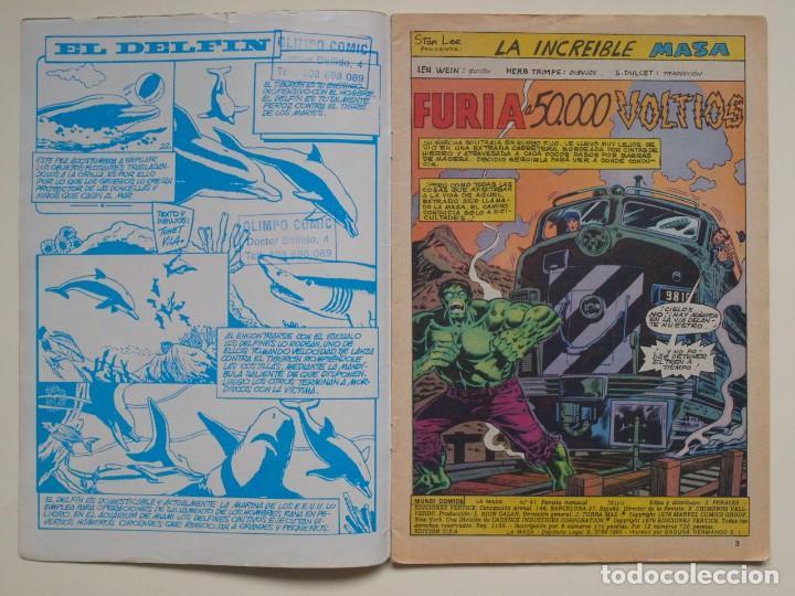 Cómics: LA MASA - VOLUMEN 3 - N° 41 - FURIA A 50.000 VOLTIOS - VERTICE - 1980 - Foto 3 - 134952198