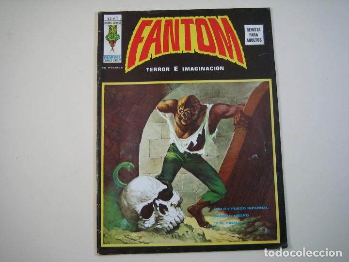 FANTOM (1974, VERTICE) -V.2- 1 · 15-XI-1974 · HIELO Y FUEGO INFERNAL / SÁBADO NEGRO / (Tebeos y Comics - Vértice - V.2)
