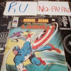 Comics: VERTICE V 1 N 11 EL HOMBRE DE HIERRO Y EL CAPITÁN AMÉRICA ENTRA EL DEMOLEDOR, VER FOTOS ESTADO , .. Lote 135093119