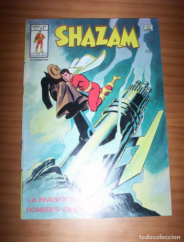 SHAZAM - MUNDI COMICS Nº 5: LA INVASIÓN DE LOS HOMBRES-ENSALADA - CON POSTER CENTRAL DE LOPEZ ESPI (Tebeos y Comics - Vértice - Otros)