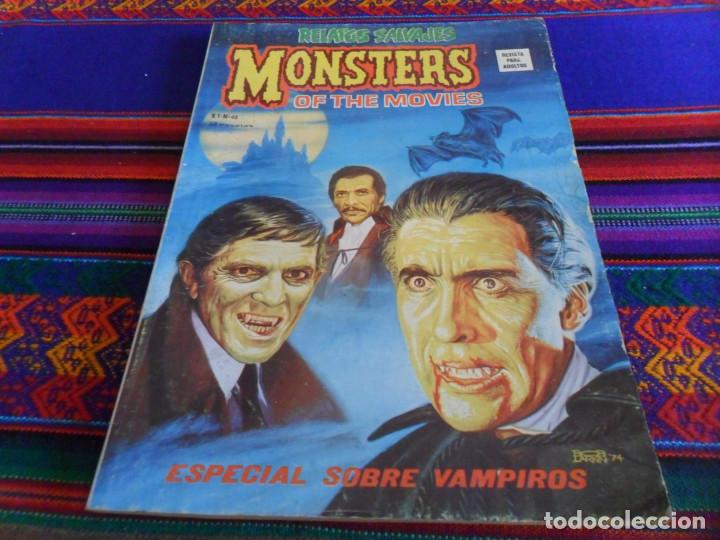 VÉRTICE VOL. 1 RELATOS SALVAJES Nº 46 MONSTERS OF THE MOVIES, ESPECIAL SOBRE VAMPIROS. 1977. 50 PTS. (Tebeos y Comics - Vértice - Relatos Salvajes)