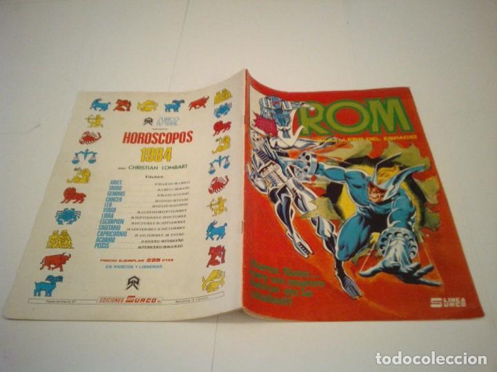 Cómics: ROM - VERTICE - SURCO - COLECCION COMPLETA - 8 NUMEROS - BUEN ESTADO - CJ 7 - GORBAUD - Foto 13 - 135560226