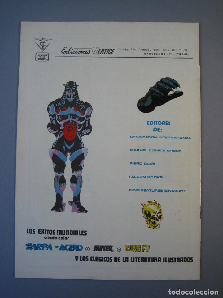 Cómics: IRON MAN (1981, VERTICE) -HOMBRE DE HIERRO- 6 · III-1982 · EL PRELUDIO DE MONACO **EXCELENTE*** - Foto 2 - 135612846
