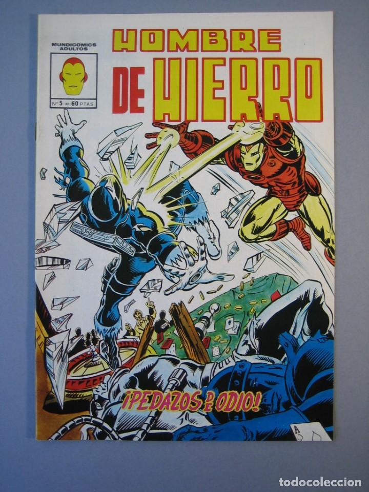 IRON MAN (1981, VERTICE) -HOMBRE DE HIERRO- 5 · II-1982 · PEDAZOS DE ODIO ***EXCELENTE*** (Tebeos y Comics - Vértice - Hombre de Hierro)