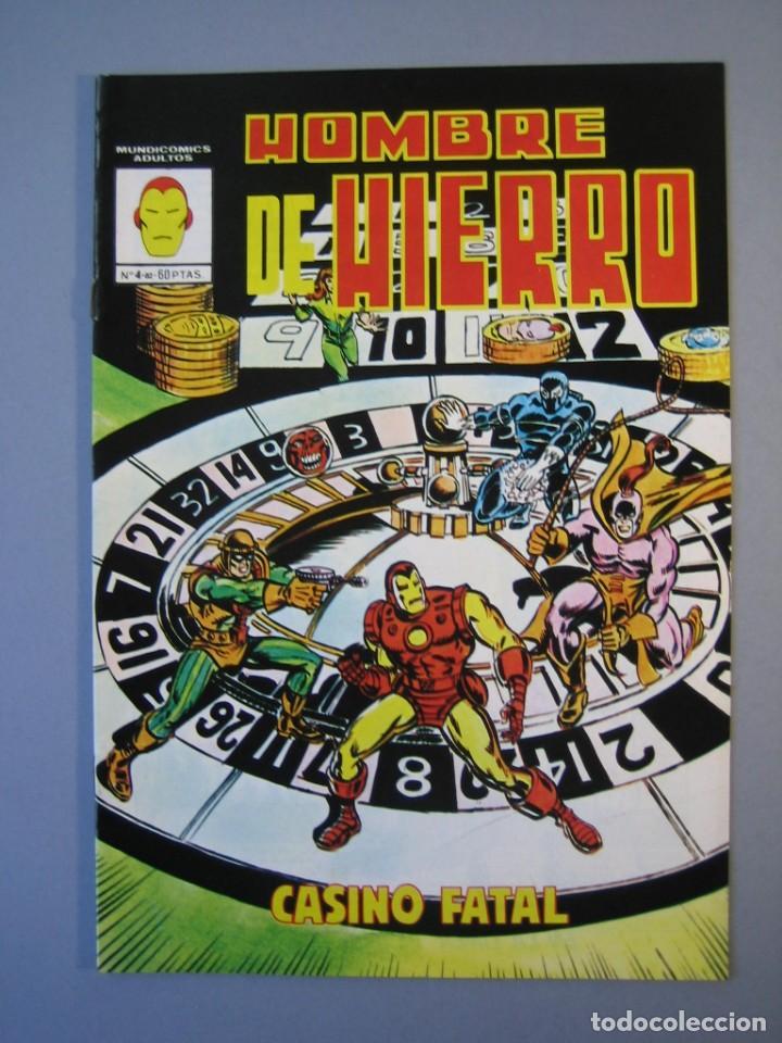 IRON MAN (1981, VERTICE) -HOMBRE DE HIERRO- 4 · I-1982 · CASINO FATAL *** EXCELENTE *** (Tebeos y Comics - Vértice - Hombre de Hierro)