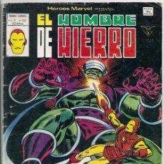 Cómics: EL HOMBRE DE HIERRO: ¡DOLORES CRECIENTES! / HÉROES MARVEL V2, N° 62 - VÉRTICE, 07/1980 | IRON MAN. Lote 145541333
