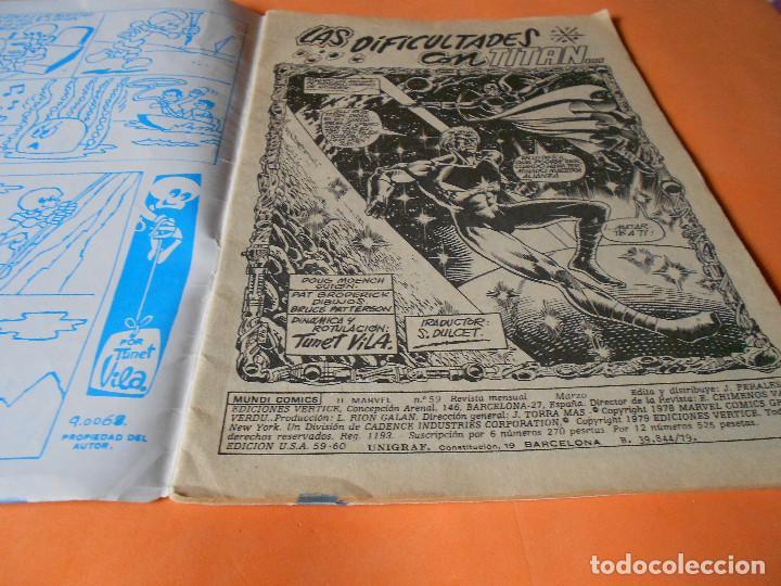 Cómics: HEROES MARVEL Nº 59 CAPITAN MARVEL VERTICE 1979. LAS DIFICULTADES CON TITAN... - Foto 3 - 136813386