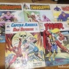 Cómics: LOTE VERTICE EL HOMBRE ENMASCARADO NUMS 1-2-12(COMICS ART)C.AMERICA Y DAN DEFENSOR 5-THOR NUM 8. Lote 137936386