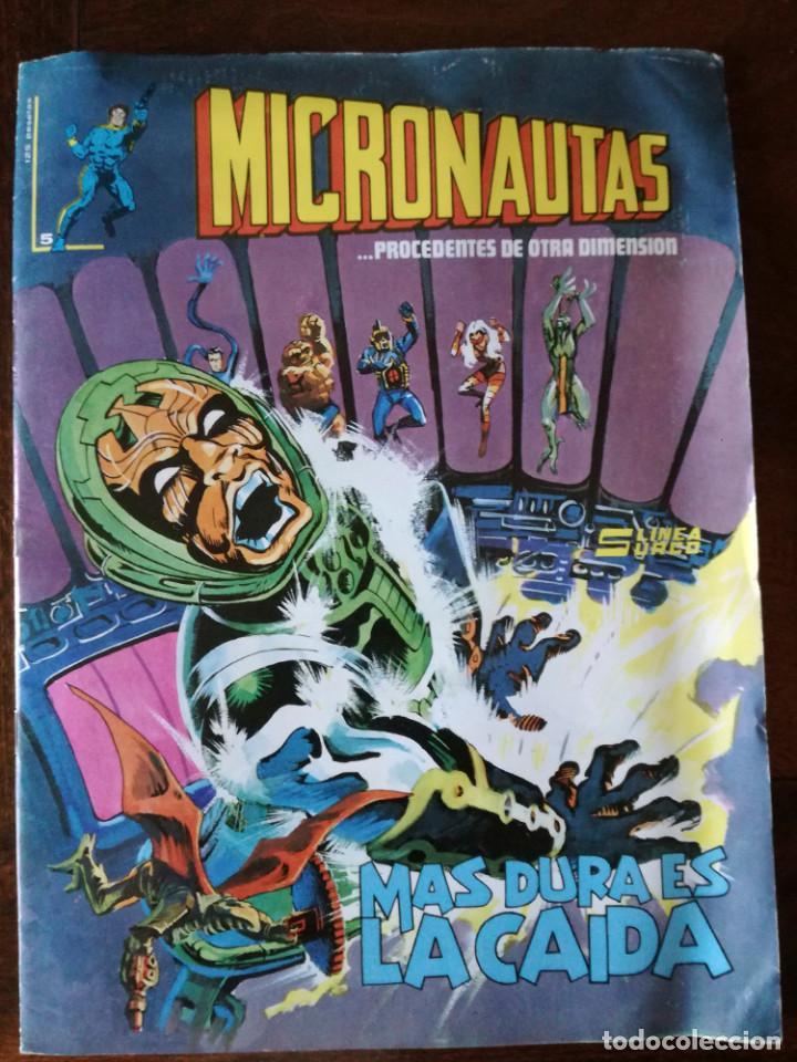 MICRONAUTAS-N°5-LINEA SURCO MAS DURA ES LA CAIDA-1981 NUEVO (Tebeos y Comics - Vértice - Surco / Mundi-Comic)