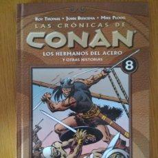 Cómics: LAS CRONICAS DE CONAN TOMO 8 PLANETA CONAN EL BARBARO TAPA DURA. Lote 139478438