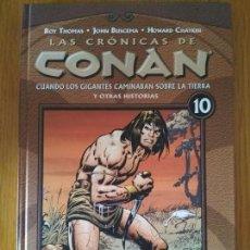 Cómics: LAS CRONICAS DE CONAN TOMO 10 Y 11 PLANETA CONAN EL BARBARO TAPA DURA. Lote 139478914