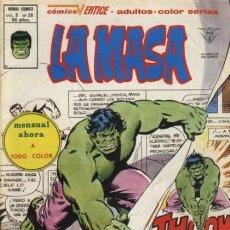 Comics: LA MASA- V-3- Nº 36 -¿RECUERDA ALGUIEN AL HOMBRE COBALTO?-1981-GENIAL HERB TRIMPE-CORRECTO-LEAN-9643. Lote 139884409
