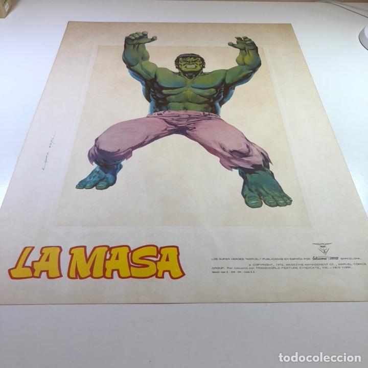 ORIGINAL CARTEL POSTER LA MASA / LOPEZ ESPI / EDICIÓNES VÉRTICE / MARVEL COMICS/ 57X43 (Tebeos y Comics - Vértice - La Masa)