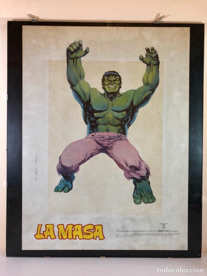 Cómics: ORIGINAL Cartel Poster LA MASA / Lopez Espi / Ediciónes Vértice / Marvel Comics/ 57x43 - Foto 2 - 140325326